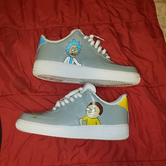 Custom rick and Morty air force 1s